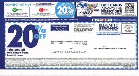 20 bed bath and beyond coupon online 5 bed bath beyond 20 off coupons expired ebay