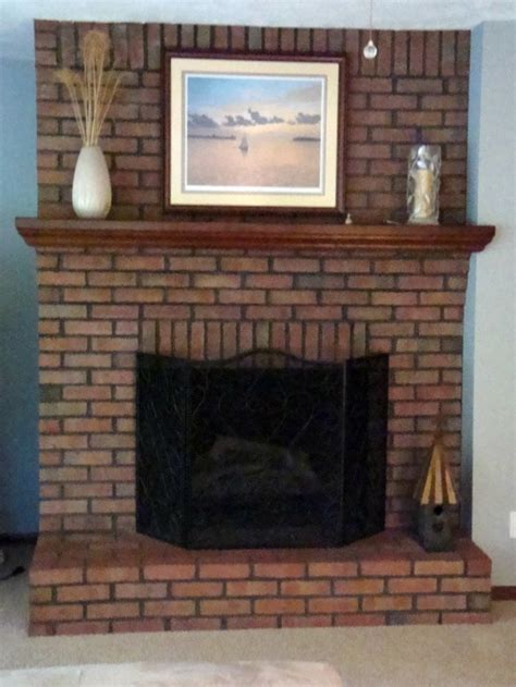 Brick Fireplace by Painting Brick Fireplace For Look And Feel Brick