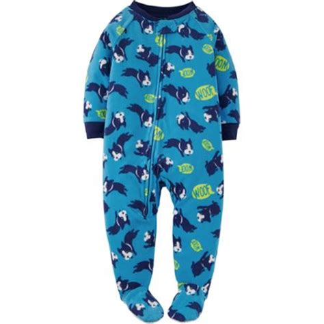 footed onesies baby child of mine by s baby toddler boy fleece footed pajama walmart