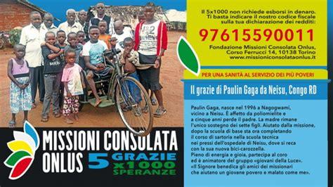 missioni consolata onlus 5x1000 a fondazione missioni consolata onlus