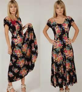 90s dress vintage 90s floral dress black boho chic grunge maxi small
