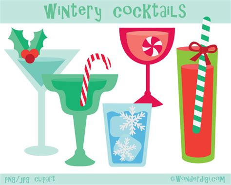 holiday cocktails clipart christmas cocktails clipart www imgkid com the image