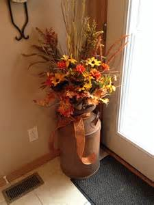 Fall Front Porch Decorations - milk cans decorated for fall fall decor old milk can