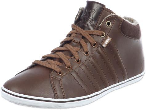 k swiss hof iv mid shoes brown white