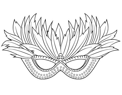 mardi gras mask coloring pages getcoloringpagescom