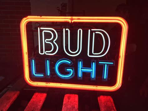 vintage bud light neon sign vintage anhueser busch 1970s