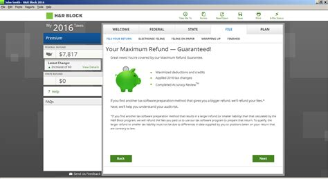 Amazon.com: H&R Block Tax Software Deluxe + State 2016 Mac ... H And R Block 2016 Calculator