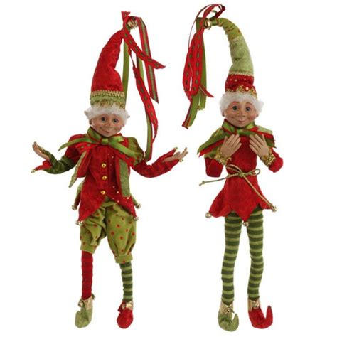 christmas elf red and green 36 inch posable elves raz