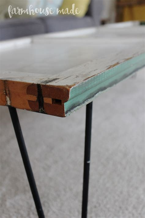 Diy Coffee Table Legs Diy Coffee Table Using A Salvaged Shutter Farmhouse Made