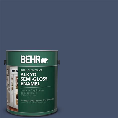 behr 1 gal ppu15 18 vintage velvet semi gloss enamel alkyd interior exterior paint 393001