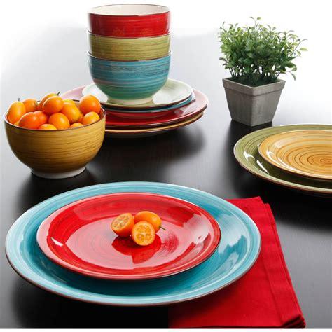 multi colored dishes colorful everyday dinnerwarets glass square corelle