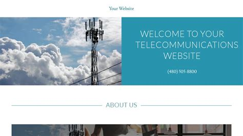 Telecommunications Website Templates Godaddy Godaddy Newsletter Templates