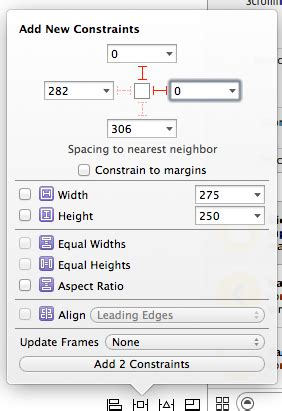 xcode relative layout ios adding relative constraints the the ios layout