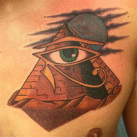 eye of horus tribal tattoo 35 pyramid tattoos