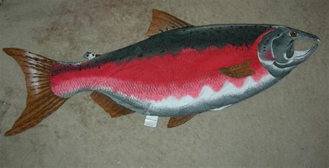 Salmon Pillow by Salmon Pillow Make Your Own Big Fish Pillow Cotton Blend