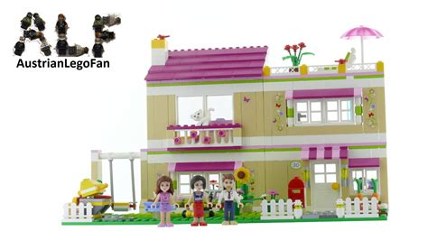 lego friends huis olivia lego friends 3315 olivia 180 s house lego speed build review