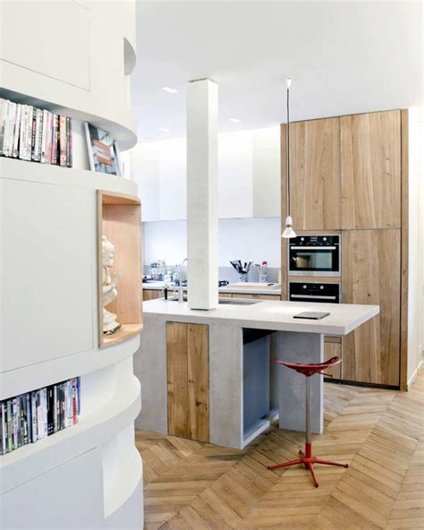 clever design apartment kitchen concept introducing timber