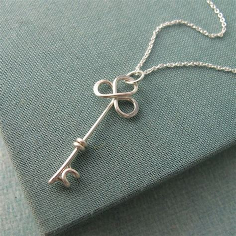 items similar to trefolis key necklace on etsy