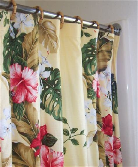 hawaiian print curtains tropical print curtains set of 2 bohemian tropical print