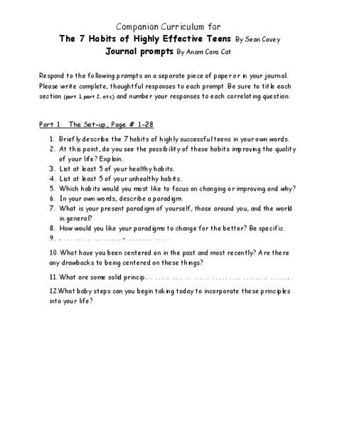 7 Habits Of Highly Effective Worksheets by All Worksheets 187 7 Habits Of Highly Effective