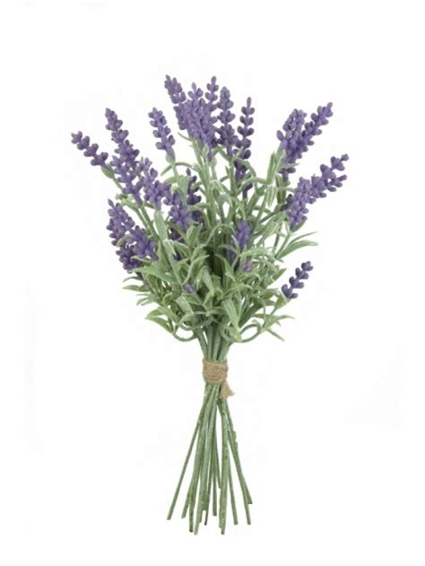 Bunch Of Flowers In A Vase Artificial French Lavender Bundle Purple