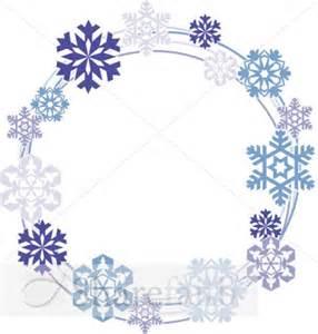 Snowflakes circle border snowflake images