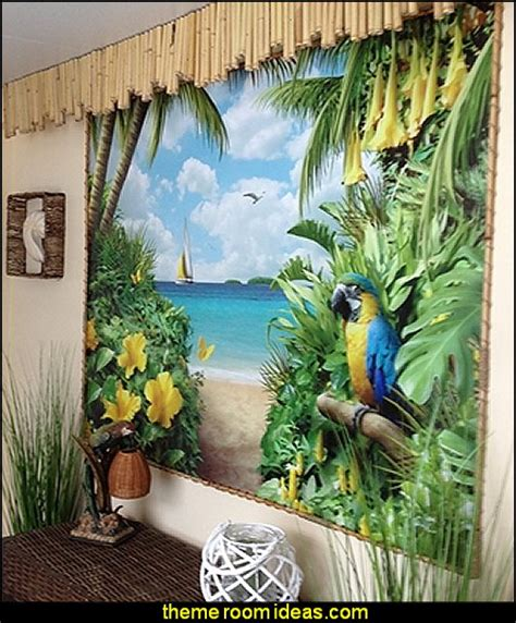 tropical wall mural decorating theme bedrooms maries manor tropical