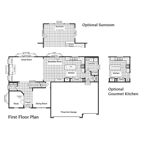 Princeton Floor Plans by St Louis Area Custom Home Builders Princeton 4 Bedroom