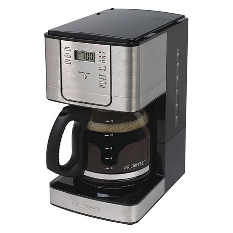 Coffee Maker Stainless 0027200006 mr coffee 12 cup programmable coffee maker with auto pause stainless steel