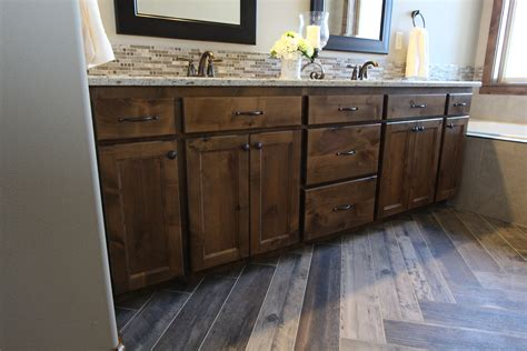Knotty Alder Bathroom Vanity Affordable Custom Cabinets Showroom