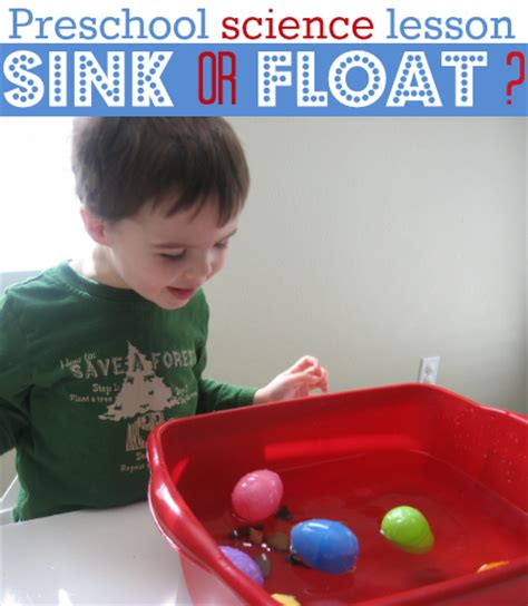 Preschool Science Sink Or Float No Time For Flash | outside the basket plastic egg ideas bite sized biggie