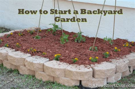 start  backyard garden   shortcuts