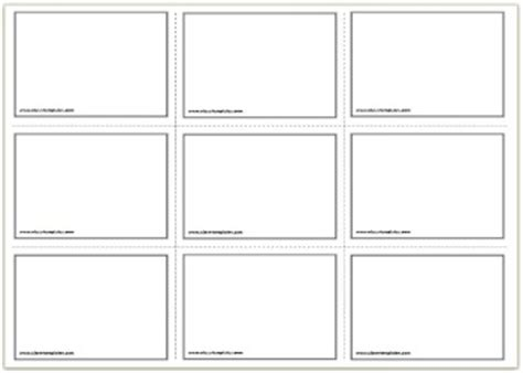 flash card templates free printable flash cards template