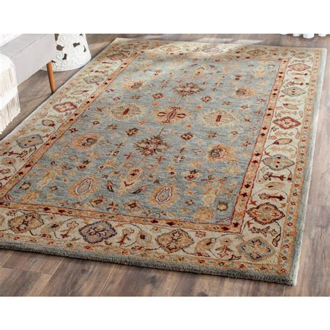 blue rugs 6 safavieh dip dye blue ivory 6 ft x 9 ft area rug ddy539k 6 the home depot