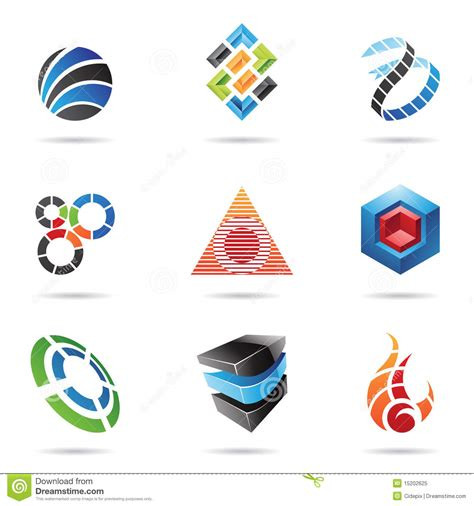 abstract icon stock image image 35579161 various colorful abstract icons set 11 royalty free stock