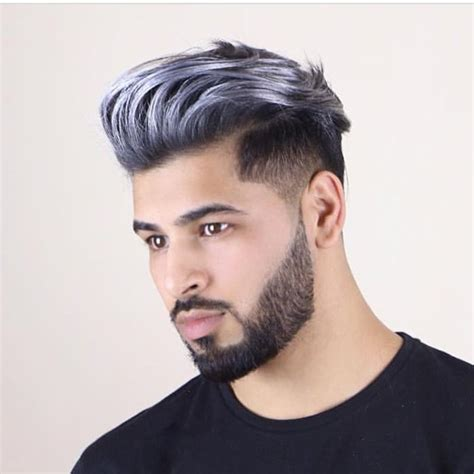 cool black men haircuts with dye silver hair dye men www pixshark com images galleries