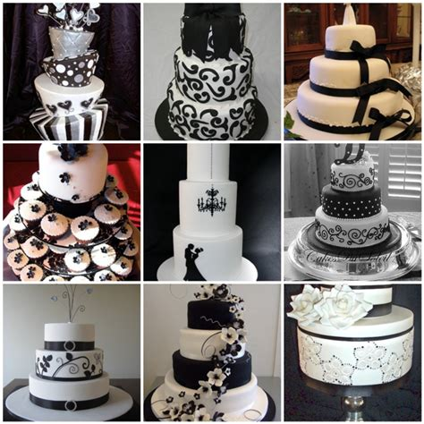 wedding themes black and white black white wedding cakes here comes the blog