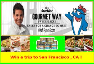 Sweepstakes To Meet Celebrities - starkist win a trip for 2 to san francisco ca and meet celebr giveawayus com