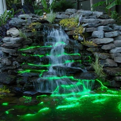 outdoor water features with lights 25 best ideas about water features on garden