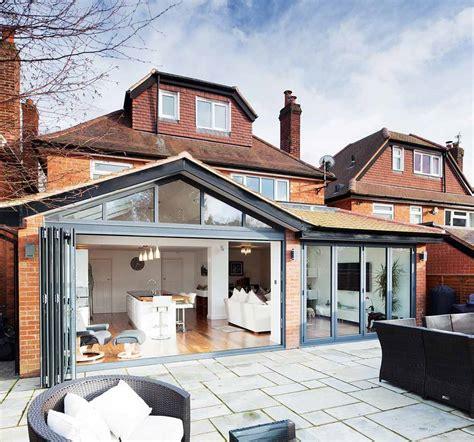house design cost uk glazed kitchen extension homebuilding renovating