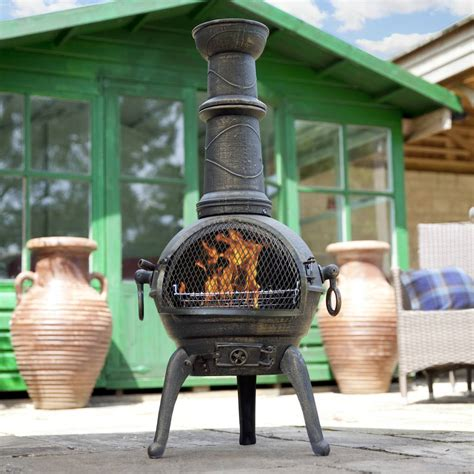 chiminea outdoor patio heater chimeneas bbq grill log