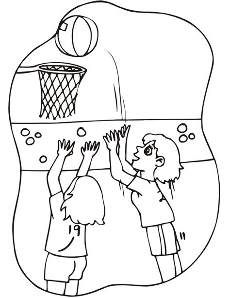 basketball game coloring pages basketball coloring picture girl s basketball game 15