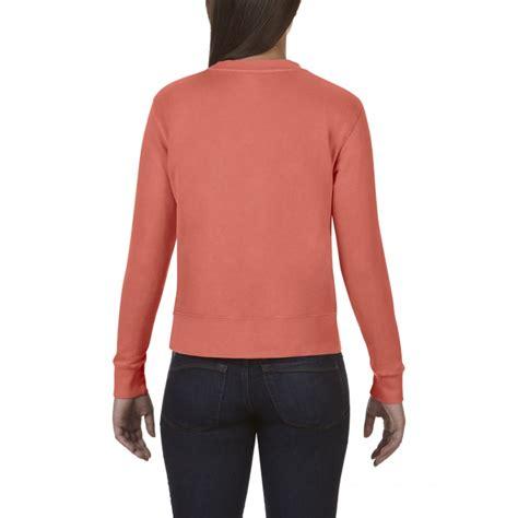 bright salmon comfort colors cc1596 comfort colors crewneck sweatshirt bright