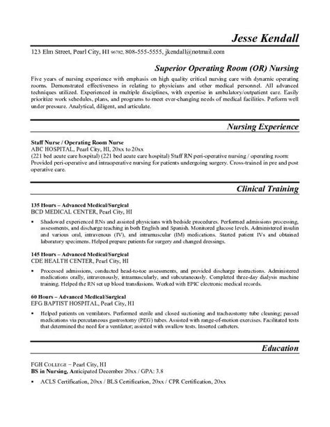 Resume Operating Room Operating Theatre Free Resume Template Resumes