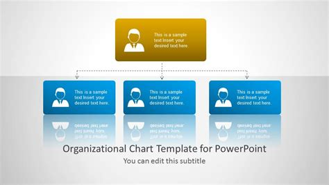 Org Chart Template For Powerpoint Slidemodel Powerpoint Organizational Chart Templates