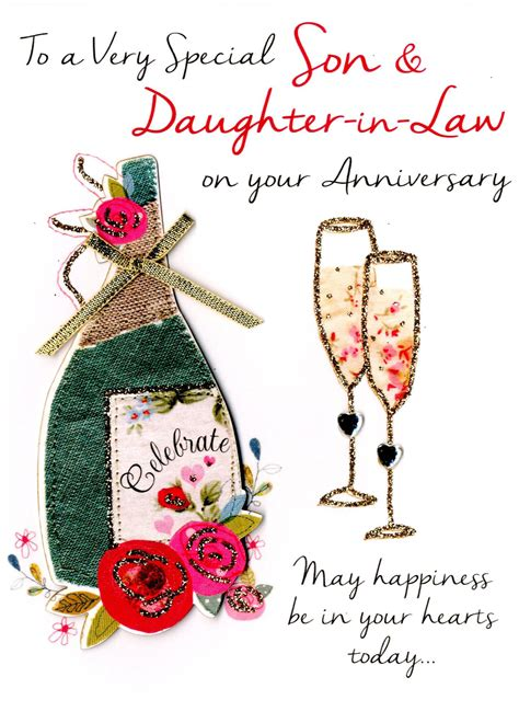 free printable anniversary cards for son and daughter in law son daughter in law anniversary greeting card cards