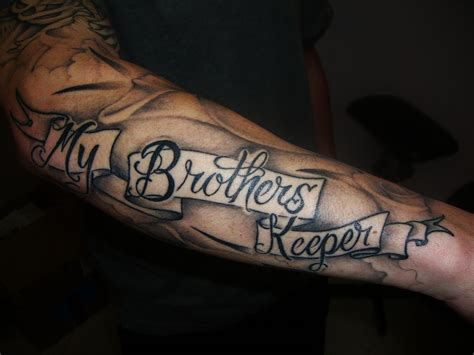 brother tattoo designs brothers keeper ideas powerful meaning the