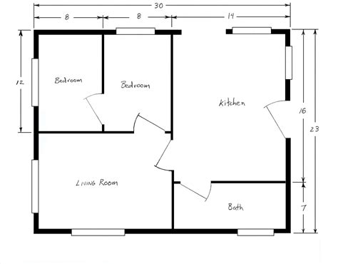 House Floor Plan Examples by Free Home Plans Sample House Floor Plans