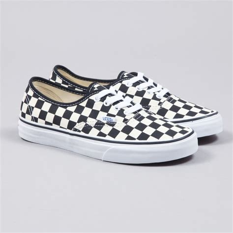 Vans Checkerboard Original vans authentic golden coast black white checker