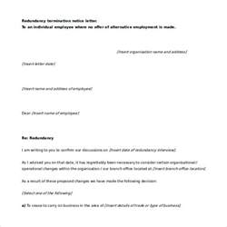 Termination Letter Format Due To Redundancy 11 Word Termination Letters Free Free Premium Templates